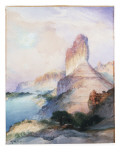 Castle Butte, Green River, Wyoming, 1900 Premium Giclee Print by  Moran