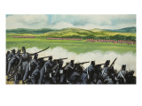 Battle of New Orleans on 8th January 1815 Premium Giclee Print by Ron Embleton