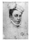 Portrait of King Charles Ix of France, 1561 Reproduction proc&#233;d&#233; gicl&#233;e par Francois Clouet