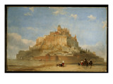 Mont St. Michel from the Sands, 1848 Giclee Print by David Roberts