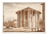 The Temple of Hercules Victor, 1833 Giclee Print by Agostino Tofanelli