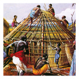 Proud Giants of Africa: the Batushi Giclee Print by  English School
