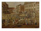 Street Performers in the Alter Markt, 1771 Giclee Print by  German School