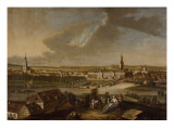 View over Potsdam from Brauhausberg, 1772 Giclee Print by Johann Friedrich Meyer