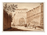 The Porta Tiburtina, Closed, 1833 Giclee Print by Agostino Tofanelli