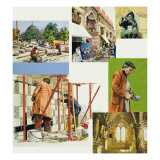 The Skills and Craft of the Stonemason Giclee Print by David Nicolle