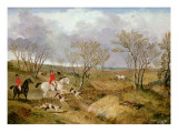 The Cambridgeshire Hunt: Gone Away Giclee Print by John Frederick Herring II
