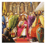 The Coronation of William the Conqueror Giclee Print by Severino Baraldi