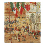The Piazza of St. Marks, Venice Giclee Print by Maurice Brazil Prendergast