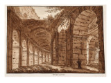 The Top Storey of the Colosseum, 1833 Giclee Print by Agostino Tofanelli