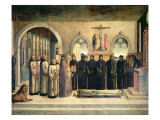 The Funeral of St. Jerome, C.1470-1472 Giclee Print by Lazzaro Bastiani