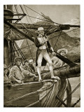 Captain Cook Approaching New Zealand Reproduction procédé giclée par Richard Caton Woodville II
