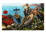Sirens Attempting to Seduce Odysseus Premium Giclee Print by  Payne