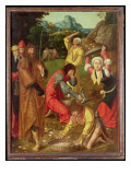The Israelites Gathering Manna Premium Giclee Print by  Master of the Holy Blood
