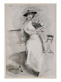 Madame Paris Seated on a Banquette Giclee Print by Paul César Helleu