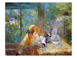 Red-Haired Girl Sitting on a Veranda, 1884 Giclee Print by  Morisot