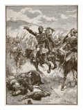 The Black Prince at the Battle of Crecy Giclee Print by Walter Paget