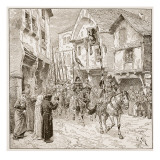 Departure of Duke Robert for the Holy Land Giclee Print by Edouard Zier