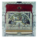 Stage and Decorative Curtain of the Dresden Theatre Giclée-tryk af German School