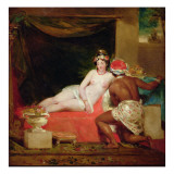 An Odalisque with a Slave in an Interior Giclee Print by William James Muller