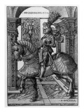 Equestrian Portrait of Maximilian I Giclee Print by Hans Burgkmair
