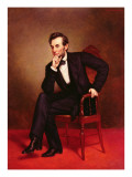Portrait of Abraham Lincoln Reproduction giclée Premium par George Peter Alexander Healy