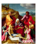 Deposition with Virgin Mary and Saints, 1523-24 Giclee Print by Andrea del Sarto 