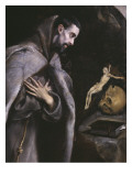 St. Francis Meditating, C.1586-92 Giclee Print by  El Greco