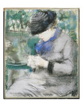 Girl Sitting in the Garden, or Knitting, 1879 Giclee Print by Édouard Manet
