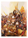 Wallenstein at the Battle of Lutzen Giclee Print by McConnell
