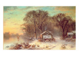 Winter in Malden, Massachusetts, 1864 Premium Giclee Print by Thomas Doughty