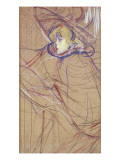 Profile of a Woman: Jane Avril, 1893 Giclee Print by Henri de Toulouse-Lautrec