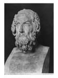 Bust of Homer, Hellenistic Period Giclee Print by  Greek