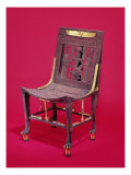 Chair, from the Tomb of Tutankhamun Reproduction procédé giclée par Egyptian 18th Dynasty