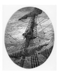 The Mariner Up the Mast During a Storm Giclee Print by Gustave Doré