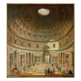 The Interior of the Pantheon, Rome Reproduction procédé giclée par Giovanni Paolo Pannini