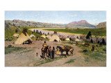 In the Foothills of the Rockies, 1898 Giclee Print by Henry F. Farny