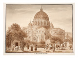 St. Peter's Seen from a Vineyard, 1833 Giclee Print by Agostino Tofanelli