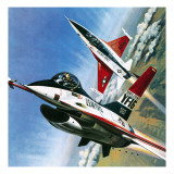 America's Deadly Dogfighter, the Yf - 16 Giclee Print by Wilf Hardy