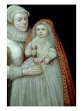 Christening, Portrait of a Mother and Child, C.1595 Reproduction procédé giclée par  English School