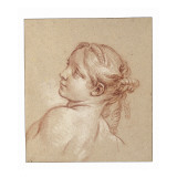 A Girl, Bust Length, Her Head Tilted to the Ledt Giclee Print by Francois Boucher
