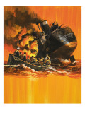 The Ship That Would Not Die Giclee Print by Wilf Hardy