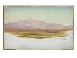 Monte Guinaro, Sabine Mountains, 1869 Giclee Print by Frederic Edwin Church