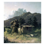 A House in the Adirondacks, 1851 Giclee Print by David Johnson