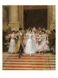 The Wedding, Church of St. Roch, Paris Giclee Print by Frederik Hendrik Kaemmerer