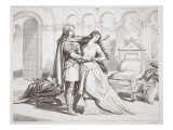 Hereward's First Interview with Torfrida Premium Giclee Print by Henry Courtney Selous