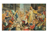 Jesus Removing the Money Lenders from the Temple Giclee Print by McConnell