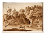 Burial Chamber, Via Labicana, 1833 Giclee Print by Agostino Tofanelli