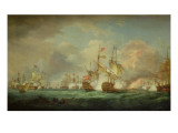 Battle of Trafalgar, 21st Oct. 1805 Stampa giclée di Thomas Whitcombe