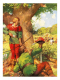 Robin and Little John Confusing the Normans Giclee Print by Derek Charles Eyles